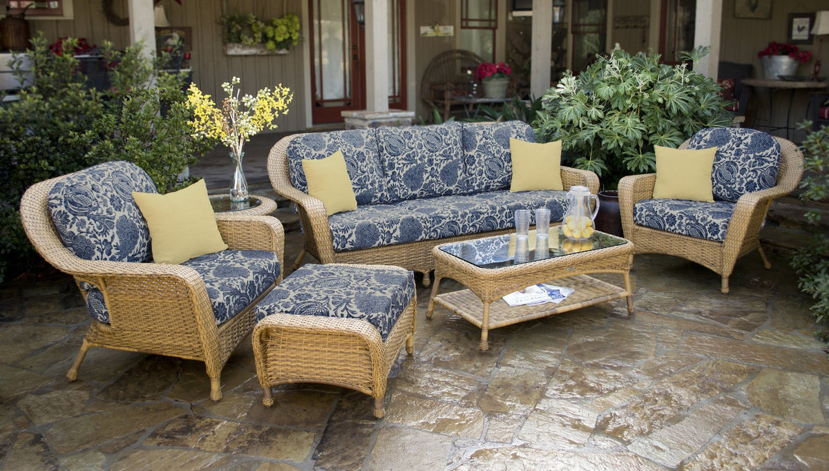 Tortuga Outdoor Tortuga Outdoor Sea Pines 6 Piece Seating Set (Sofa & 2 Chairs) Outdoor Seating Set - Rattan Imports