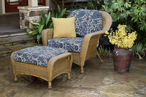 Tortuga Outdoor - Lexington Chair & Ottoman Bundle -  -  - 1