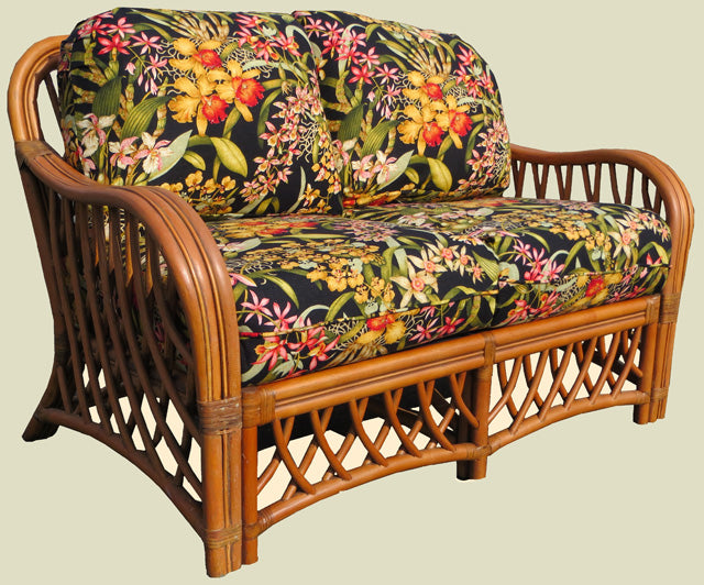 Spice Islands Spice Islands Wicker Montego Bay 6 Piece Living Room Set in Cinnamon Outdoor Seating Set - Rattan Imports
