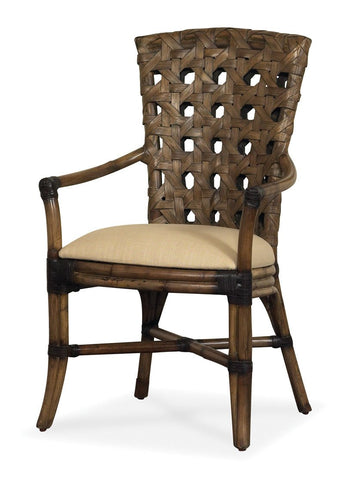 Designer Wicker & Rattan By Tribor Morocco Dining Arm Chair by Designer Wicker from Tribor Dining Chair - Rattan Imports