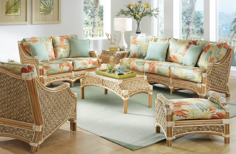 Spice Islands Spice Islands Mauna Loa Loveseat Natural Loveseat - Rattan Imports