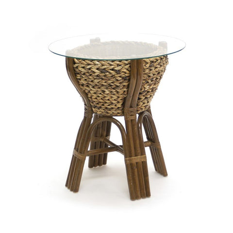 Sea Winds Trading Sea Winds Trading Maui Bowl End Table B/GL53202-NAT End Table - Rattan Imports