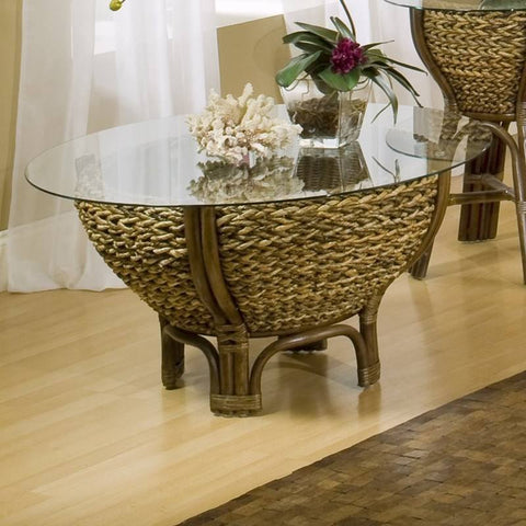 Sea Winds Trading Sea Winds Trading Maui Bowl Coffee Table B/GL53203-NAT Coffee Table - Rattan Imports