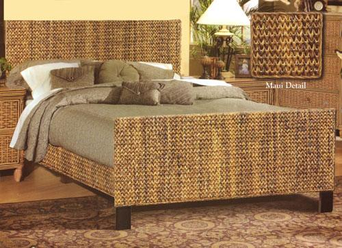 Sea Winds Trading Sea Winds Trading Maui Queen Bed B533QBED Bed - Rattan Imports