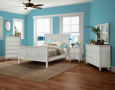 Monaco Queen Bed By Sea Winds Trading B818qbed Blanc
