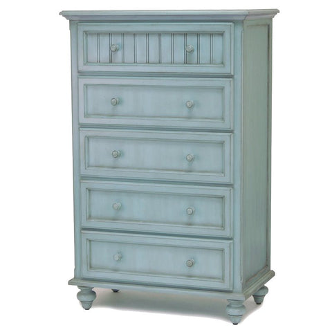 Sea Winds Trading Sea Winds Trading Monaco 5 Drawer Chest by Sea Winds Trading B81835-BLEU Dresser - Rattan Imports