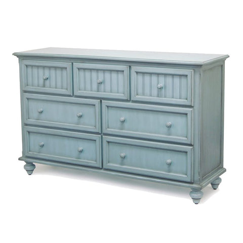 Sea Winds Trading Sea Winds Trading Monaco 7 Drawer Dresser by Sea Winds Trading B81837-BLEU Dresser - Rattan Imports