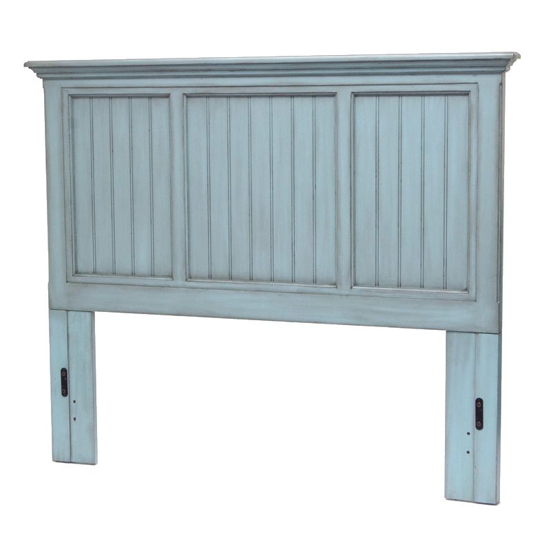 Sea Winds Trading Sea Winds Trading Monaco Queen Headboard by Sea Winds Trading B81840-BLEU Headboard - Rattan Imports