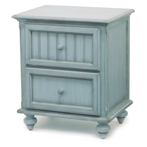 Sea Winds Trading Sea Winds Trading Monaco 2 Drawer Nightstand by Sea Winds Trading B81832-BLEU Night Stand - Rattan Imports