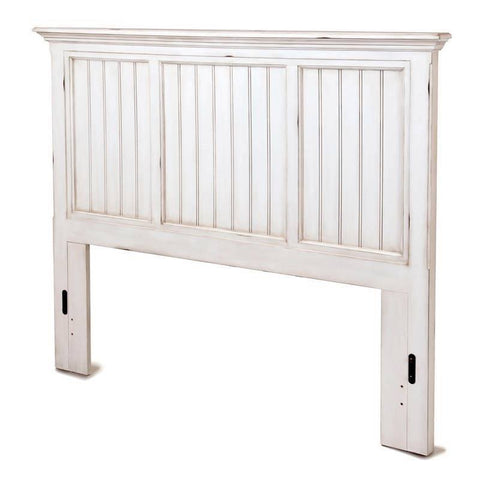Sea Winds Trading Sea Winds Trading Monaco King Headboard by Sea Winds Trading B81841-BLANC Headboard - Rattan Imports