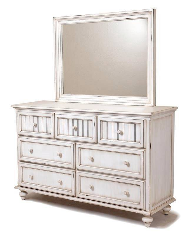 Sea Winds Trading Sea Winds Trading Monaco 7 Drawer Dresser by Sea Winds Trading B81837-BLANC Dresser - Rattan Imports