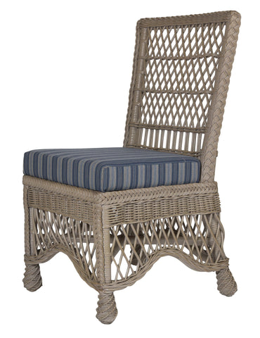 Designer Wicker & Rattan By Tribor Naples Dining Side Chair Dining Chair - Rattan Imports