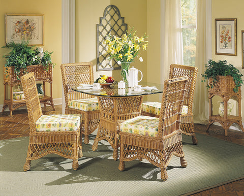 Designer Wicker & Rattan By Tribor - Naples 5 pcs. Dining w/ Glass -  -  - 4