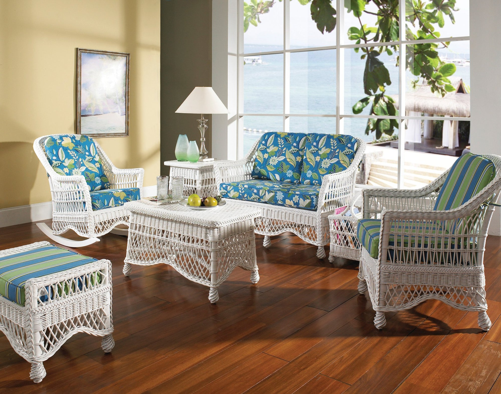 Designer Wicker & Rattan By Tribor Naples Ottoman by Designer Wicker from Tribor Ottoman - Rattan Imports