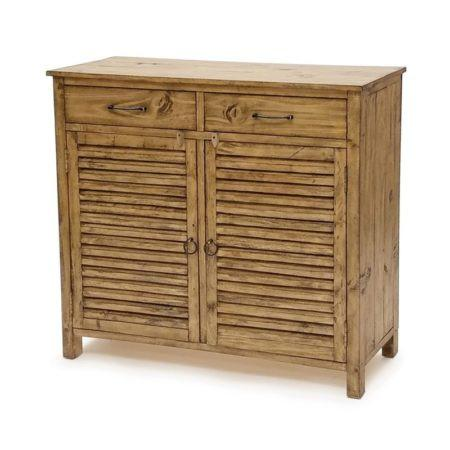 Olde World Shutter Entry Cabinet B46822 by Sea Winds Trading-Sea Winds Trading-Rattan Imports
