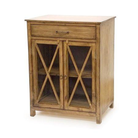 "Sea Winds Trading Olde World Cabinet 30"" Server with Glass Doors B46823 by Sea Winds Trading Cabinet - Rattan Imports"