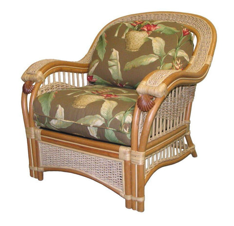 Spice Islands Spice Islands Seascape Arm Chair Natural Chair - Rattan Imports