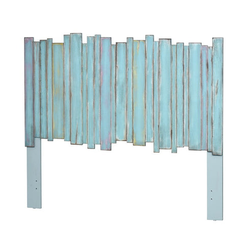 Sea Winds Trading Sea Winds Trading Island Breeze Picket Fence King Headboard B78241 Headboard - Rattan Imports
