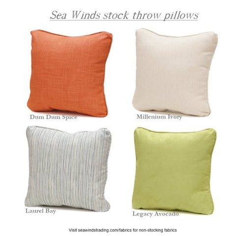 Sea Winds Trading Set of Throw Pillows - Millenium Ivory - (Pair) by Sea Winds Trading Pillow - Rattan Imports