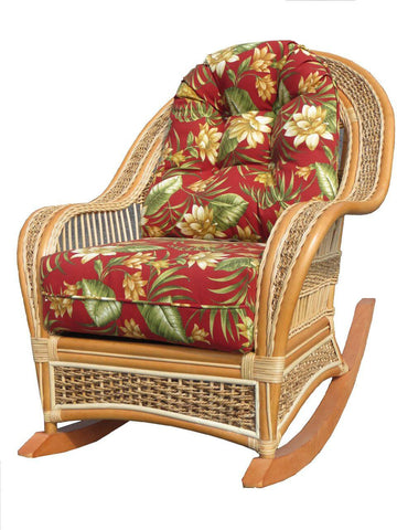 Spice Islands Spice Island Rocker Natural Rocking Chair - Rattan Imports