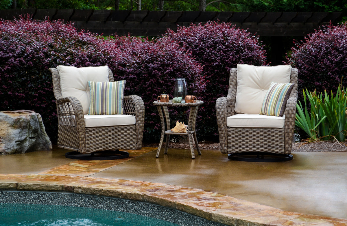 Tortuga Outdoor Tortuga Outdoor Rio Vista Bistro Set Outdoor Seating Set - Rattan Imports