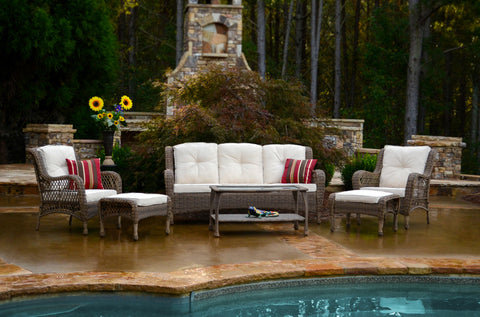 Tortuga Outdoor Tortuga Outdoor Rio Vista 6 Piece Sofa Seating Set Outdoor Seating Set - Rattan Imports