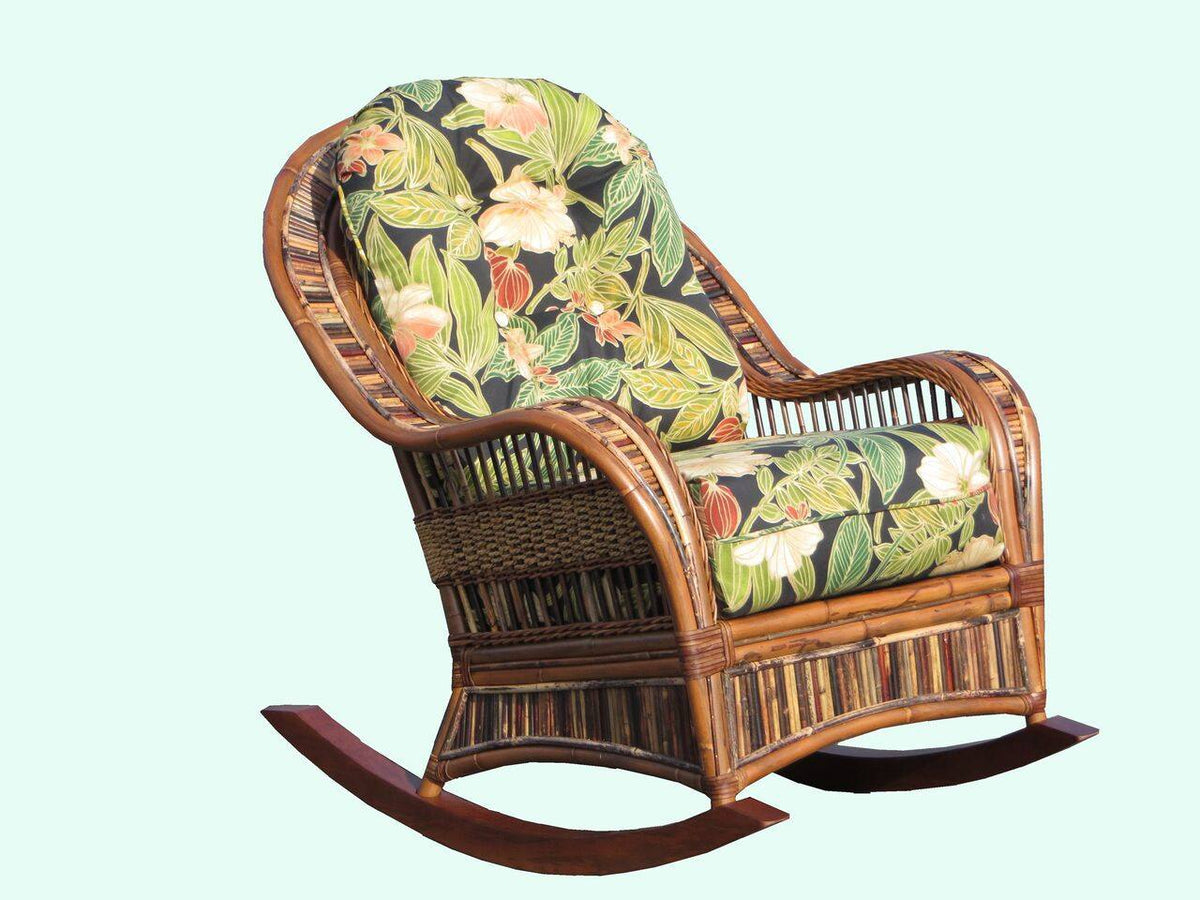 Spice Islands Spice Islands Congo Rocker Cocoa Rocking Chair - Rattan Imports