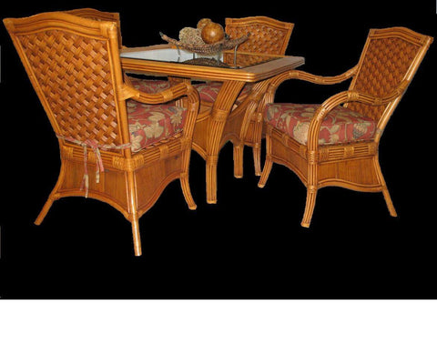 Spice Islands Spice Islands Kingston Reef Glass Top For Dining Table Table Top - Rattan Imports