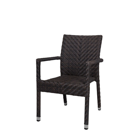 Source Outdoor Miami Dining Arm Chair Dining Chair - Rattan Imports