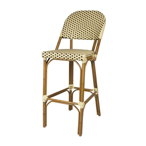 Source Outdoor - Paris Dining  Bar Side Chair - Cream and Chocolate - Paris - 1