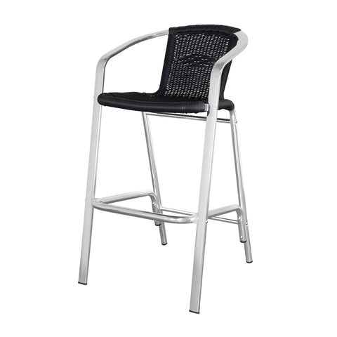 Source Outdoor - Bermuda Bar Arm Chair - Black - Bermuda - 1