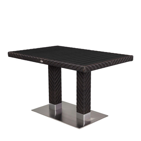 "Source Outdoor - Arizona Dining Table 32"" x 48"" - Black - Arizona - 1"