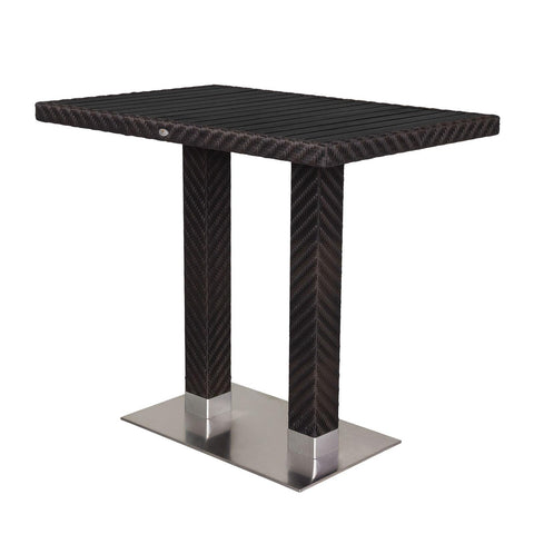 "Source Outdoor Arizona Bar Table 32"" x 48"" Bar Table - Rattan Imports"