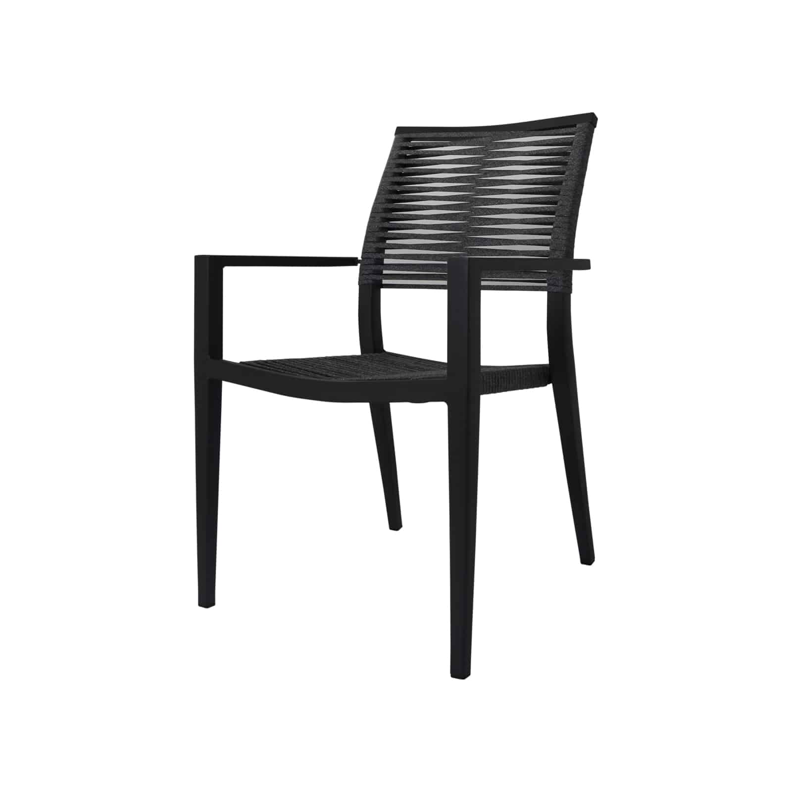 Source Furniture Source Furniture Chloe Rope Dining Arm Chair Dining Arm Chair - Rattan Imports
