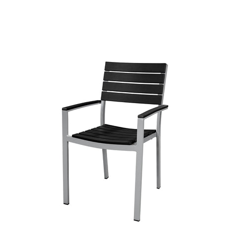 Source Furniture Vienna Dining Arm Chair in Black Dining Chair - Rattan Imports