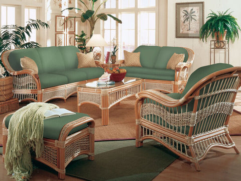 Spice Islands Seascape 5 Piece Wicker Seating Set