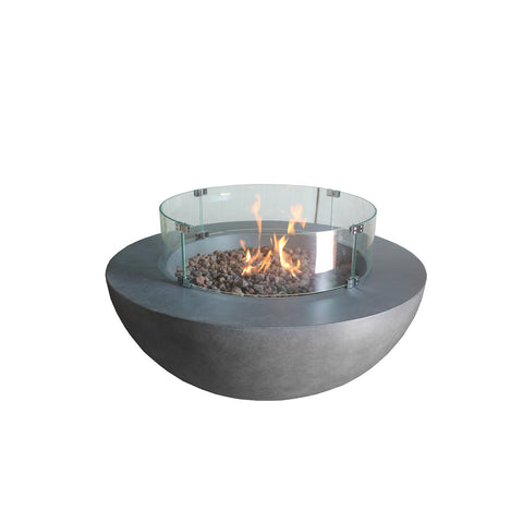 Source Furniture Elements Concrete Fire Pit (Round) – Dark Gray