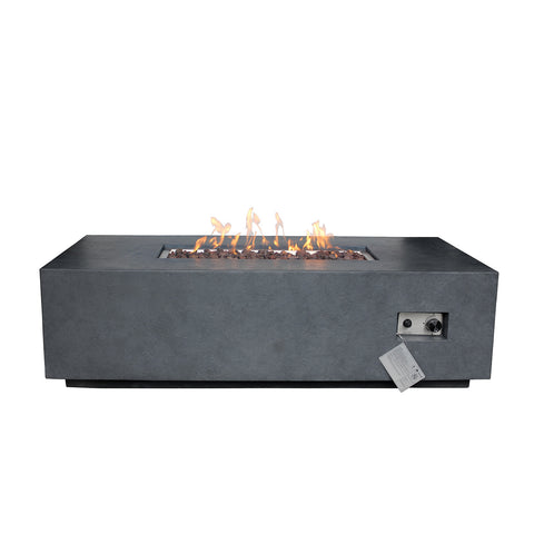 Source Furniture Elements Concrete Fire Pit (Rectangular) – Dark Gray