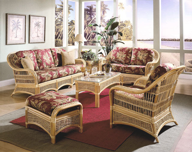 Spice Islands Spice Island 6 Piece Rattan Seating Set Outdoor Furniture Set - Rattan Imports