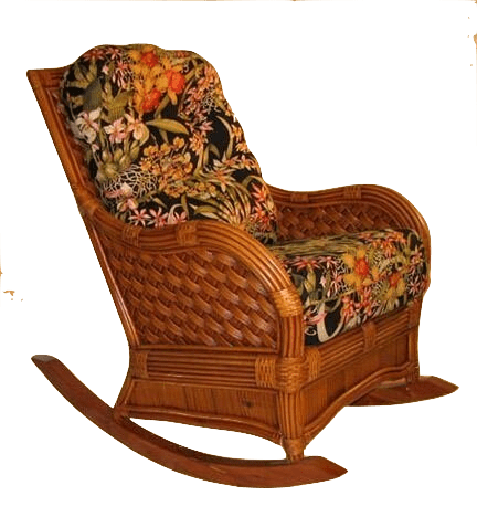 Spice Islands Spice Islands Kingston Reef Wicker Rocker Cinnamon Rocking Chair - Rattan Imports