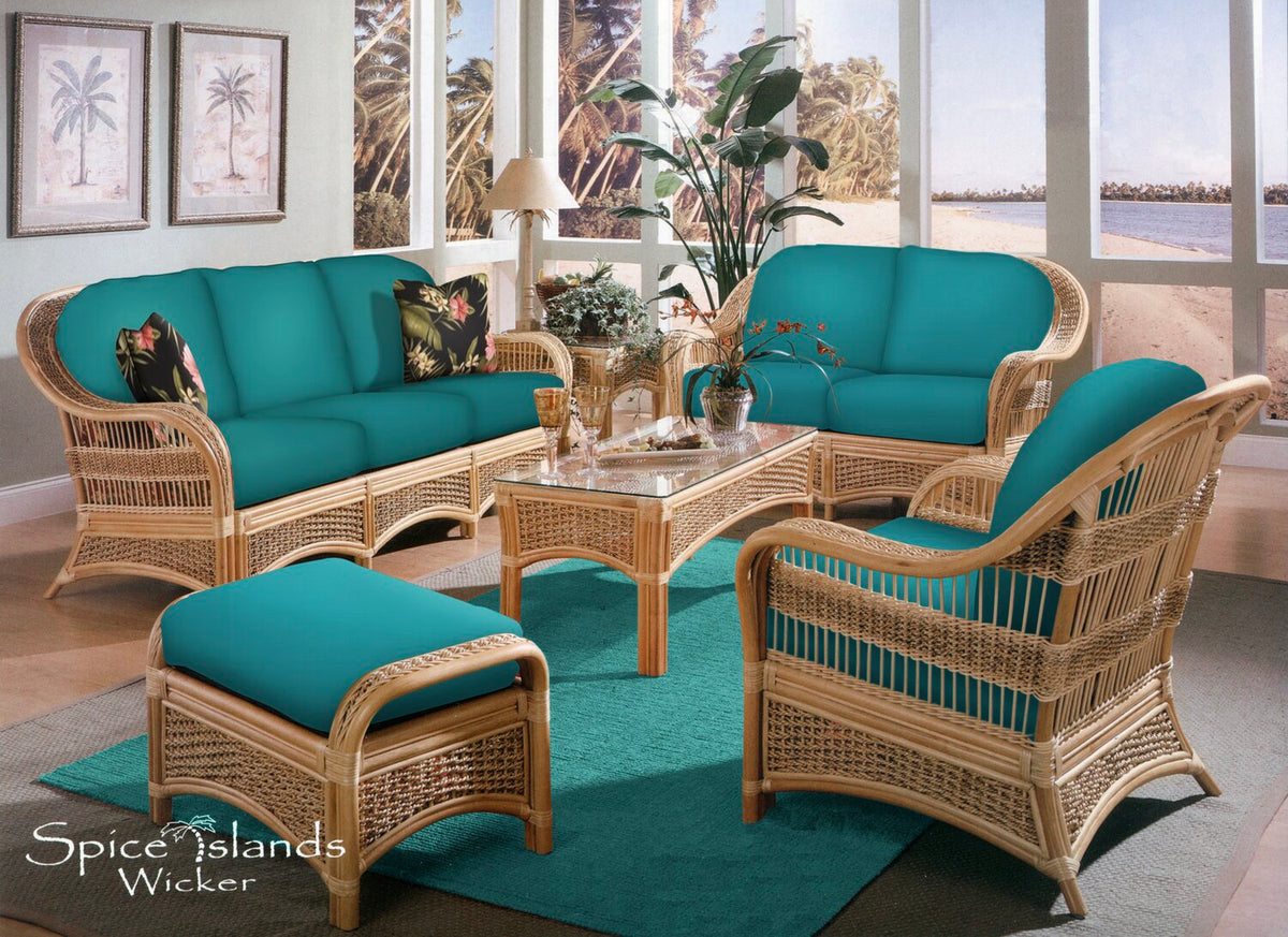 Spice Island 6 Piece Rattan Seating Set
