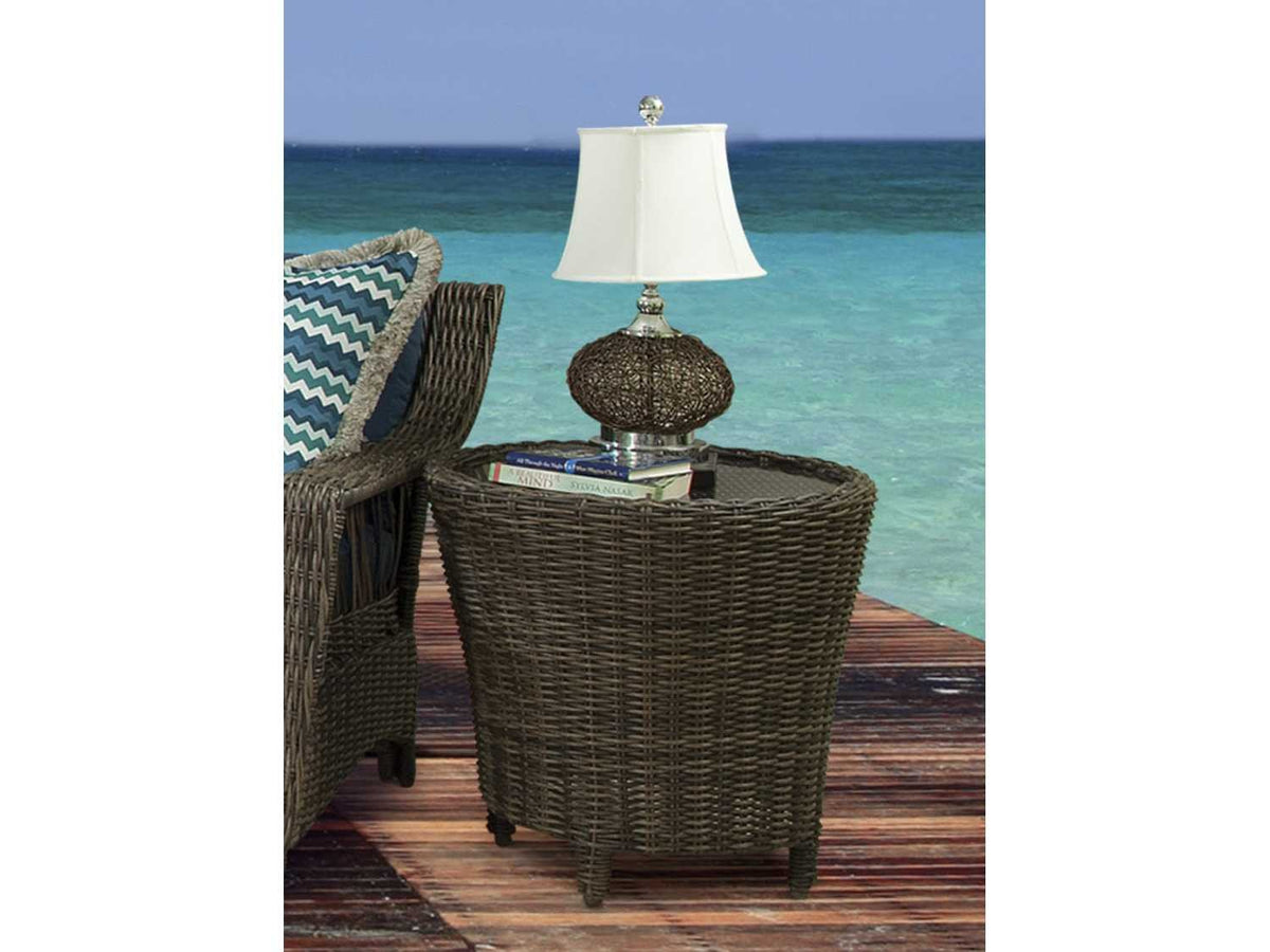 South Sea Rattan South Sea Rattan St. John 5-Piece Resin Wicker Patio Conversation Set Seating Set - Rattan Imports