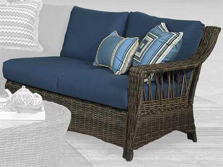 South Sea Rattan St. John One Arm Loveseat Right-Side Facing Sectional