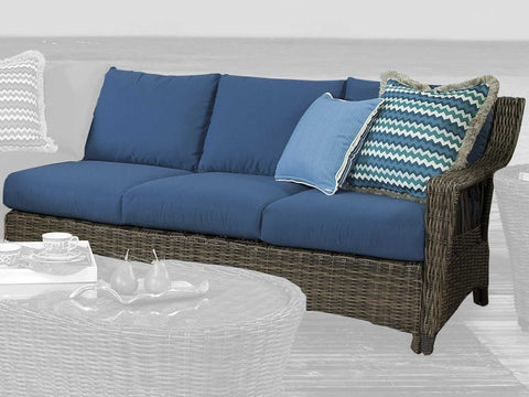 South Sea Rattan St. John One Arm Sofa Right-Side Facing Sectional