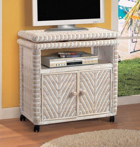 Sea Winds Trading Sea Winds Trading Santa Cruz Low TV Stand B57917-ANT TV Stand - Rattan Imports