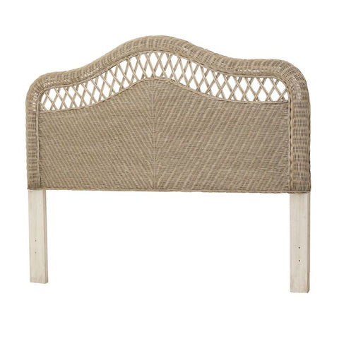 Sea Winds Trading Sea Winds Trading Santa Cruz Queen Headboard B57940-Frappe Headboard - Rattan Imports