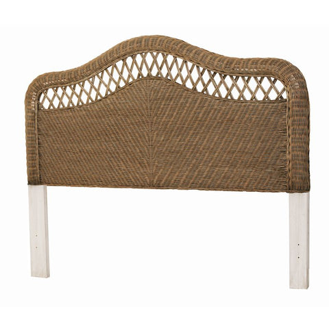 Sea Winds Trading Sea Winds Trading Santa Cruz Queen Headboard B57940-Jacobean Headboard - Rattan Imports