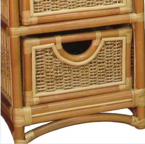 Spice Islands Spice Island Wicker 5 Drawer Unit Natural Drawer - Rattan Imports
