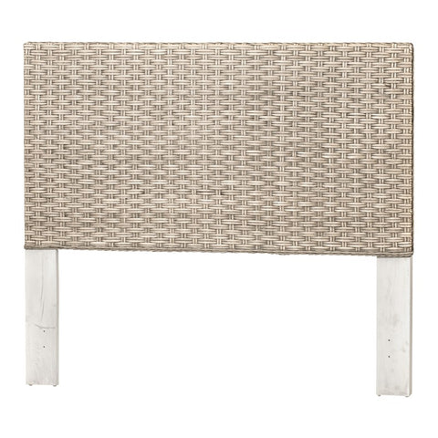 Sea Winds Trading Sea Winds Trading Sea Breeze Woven Queen Headboard B59140 Taupe Wash Headboard - Rattan Imports