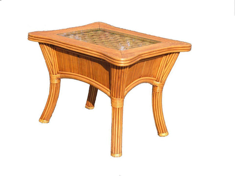 Spice Islands Spice Islands Kingston Reef End Table Cinnamon End Table - Rattan Imports